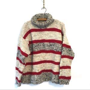 Vintage L.L. Bean Chunky Wool Sweater Turtleneck